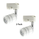 (4 Pack)Rotatable Cylinder LED Track Light 1 Head Black/White Spot Light in White/Warm White for Boutique