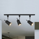 Metal Tapered LED Ceiling Light Showroom Cloth Shop 3 Lights Modern Rotatable Track Light in Black/White
