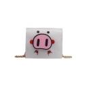 Cute Cartoon Pig Printed Mini Transparent Crossbody Wallet 11*4*10 CM