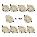 (10 Pack)3.5-4 Inch Dimmable Recessed Light Wireless 7W LED Flush Mount Recessed