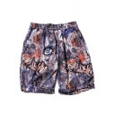 Cool Unique Eyes Printed Breathable Quick-Dry Beach Swim Trunks