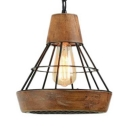 Metal Wired Hanging Pendant Light Kitchen 1 Light Industrial Farmhouse Lighting Fixture in Black