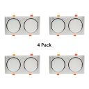 (6 Pack)Gold/Silver Rectangle Recessed Light 18/24/36W Wireless LED Light Fixture Recessed for Bedroom