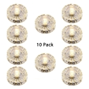 (10 Pack)Clear Crystal 5W Recessed Light Living Room Hotel Wireless Modern Ceiling Light Recessed in White/Warm/Multi Color