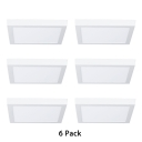 6 Pack Square Shape Down Light Shop Mall 12W Aluminum 6 Inch Slim Panel LED Light Fixture in White