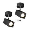 Wireless Cylinder LED Spot Light White/Black Angle Adjustable High Brightness Ceiling Light for Shop Store