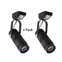 (2 Pack)Angle Adjustable LED Flush Mount Light Black/White Cylinder Aluminum Spot Light in White/Warm White for Shop