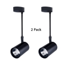 (2 Pack)Black/Antique Bronze LED Spot Light Hallway Stair Angle Adjustable Ceiling Fixture in White/Warm
