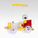 Vintage Car Shape Semi Flush Mount Light Kid Bedroom Decorative Metal LED Ceiling Light