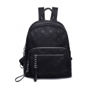 Women's Trendy Allover Printed Oxford Cloth School Bag Backpack 30*33*14 CM