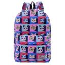 Funny Cartoon Cat Printed Leisure School Bag Backpack 30*12*42 CM