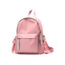 Trendy Letter Pattern Bow-knot Side School Bag Backpack for Girls 28*12*34 CM