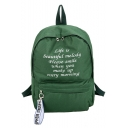 Cheap Popular Letter Printed Large Capacity Canvas School Bag Backpack 29*11*40 CM