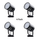 (4 Pack)Display Window Rotatable Track Lighting 1 Head Black/White Spot Light in White/Warm White