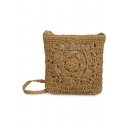 Summer Fashion Hollow Out Straw Bag Crossbody Beach Bag 22*4*24 CM