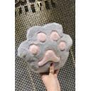 Cute Cartoon Cat Foot Shape Plush Crossbody Shoulder Bag 18*3*20 CM
