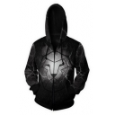 House Lannister Lion Badge 3D Printed Zip Front Long Sleeve Black Hoodie