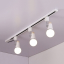 Commercial Rotatable LED Ceiling Light High Brightness Metal Black/White Track Lighting