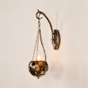 Globe Pendant Lighting Hallway Single Light Industrial Hanging Wall Sconce in Bronze