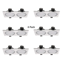 Pack of 10 Rectangle Recessed Light Kitchen Bathroom 10W Metal Light Fixture Recessed in Chrome