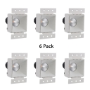 (6 Pack)Round/Square COB Light Fixture Recessed 10W Wireless LED Recessed Down Light for Hotel Restaurant