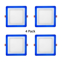 4 Inch Square Recessed Light Pack of 4 Wireless Ceiling Light Recessed for Mall Living Room