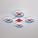 UAV Shape LED Ceiling Light White Lighting/Stepless Dimming Acrylic Ceiling Mount Light for Boy Girl Bedroom