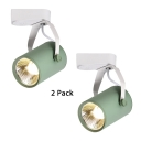 (2 Pack)Rotatable LED Track Lighting Showroom High Brightness Macaron Color Light Fixture in White/Warm