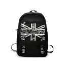 Cool Printed Large Capacity Black Travel Bag School Backpack 29*13*43 CM