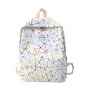 Popular Geometric Luminous Printed Large Capacity School Bag Backpack 30*14*40 CM