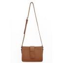 Fashion Plain Crossbody Shoulder Bag with Adjustable Strap