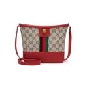 Fashion Classic Contrast Stripe Pattern Crossbody Bucket Bag Shoulder Bag 22*4*18 CM