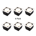 (10 Pack)5/9W Square Recessed Light Mall Office Wireless Commercial Light Fixture Recessed in White/Warm
