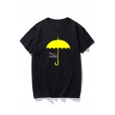Funny Umbrella HOW I MET YOUR MOTHER Basic Cotton Black Graphic Tee