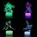 Sportsman Pattern LED Night Lamp 7 Color Changing Touch Sensor Nursery Nightlight for Boy Girl Bedroom