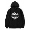 New Fashion Dragon Letter DRACARYS Print Long Sleeve Casual Loose Pullover Hoodie