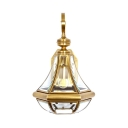 3 Glass Option Wall Light 1 Light Antique Style Sconce Light for Bedroom Balcony