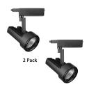(2 Pack)1 Light Angle Adjustable Ceiling Light Black/White High Brightness LED Track Light in White/Warm White