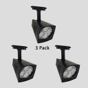 (3 Pack)Wireless High Brightness Track Light Metal 1 Head Whit/Black Ceiling Light for Cloth Shop