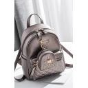 Stylish Diamond Joint Seam Rivet Embellishment Backpack 24*12*27 CM