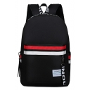 Stylish Letter Striped Pattern Watertight Oxford Cloth College Backpack 32*14*46 CM