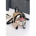 Trendy Letter Ribbon Decoration Mini Casual Handbag Backpack 19*9*23 CM