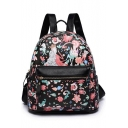 Designer Floral Figure Printed Leisure Collage Backpack for Women 27*13*30 CM