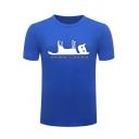 Schrodinger's Cat is Dead Funny Cartoon Printed Basic Regular Fit T-Shirt