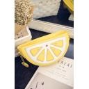 Cute Cartoon Fruit Shape Yellow Crossbody Bag with Chain Strap 23*7*12 CM