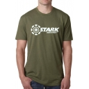 New Fashion STARK INDUSTRIES Letter Print Short Sleeve Round Neck Tee