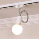 Black/White LED Track Light with Flexible Hose 1 Light Simple Style Ceiling Lamp for Bathroom