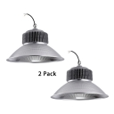 1/2 Pack Cone Bay Light 150W 1 Head Metal LED Hanging Light for Industrial Workshop Garage