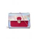 New Fashion Color Block Laser Crossbody Sling Bag 19*6.5*13 CM