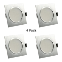 3W Recessed Light Square Metal Recessed Down Light with 3 Optional Color for Kitchen